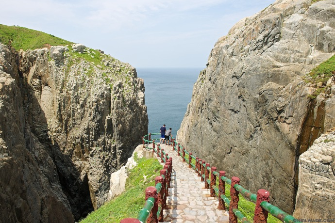 Suicide Cliff on Dongyin Island has a tragic name for such a beautiful place.